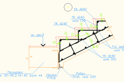 Схема крыльца с армированием