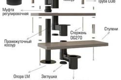 Схема модульной винтовой лестницы на цепном косоуре
