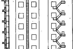 Схема пожарных лестниц промышленных зданий