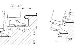 Схема проектирования проступи лестницы