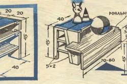 Схема табуретки-стремянки со столом