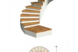 Схема винтовой лестницы без опоры