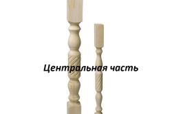 Деревянная балясина состоит из основных частей: опоры, центральной части и основания.