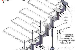 Схема устройства винтовой лестницы