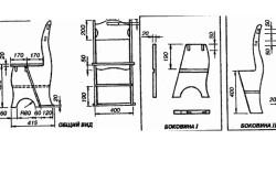 Конструкция и схема сборки стула-трансформера.