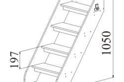Чертеж лестницы приставной