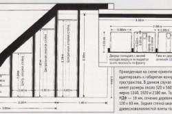 Схема шкафа под лестницу