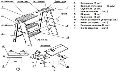 Схема стремянки