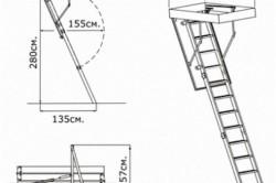 Складная лестница из профиля.