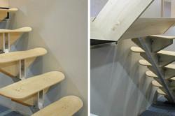 Лестница со ступенями в виде досок от скейтбордов