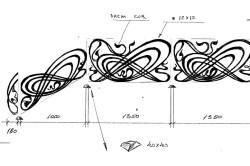 Эскиз кованного рисунка перил