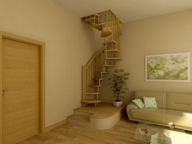 Винтовая лестница металлическая своими руками 3