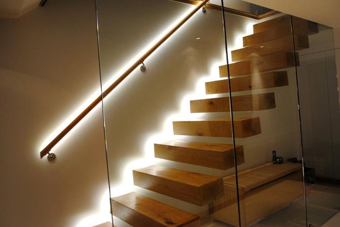 Светодиодная подсветка лестниц своими руками