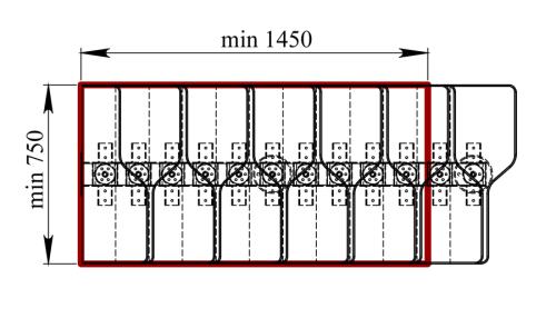 Схема модульной лестницы.