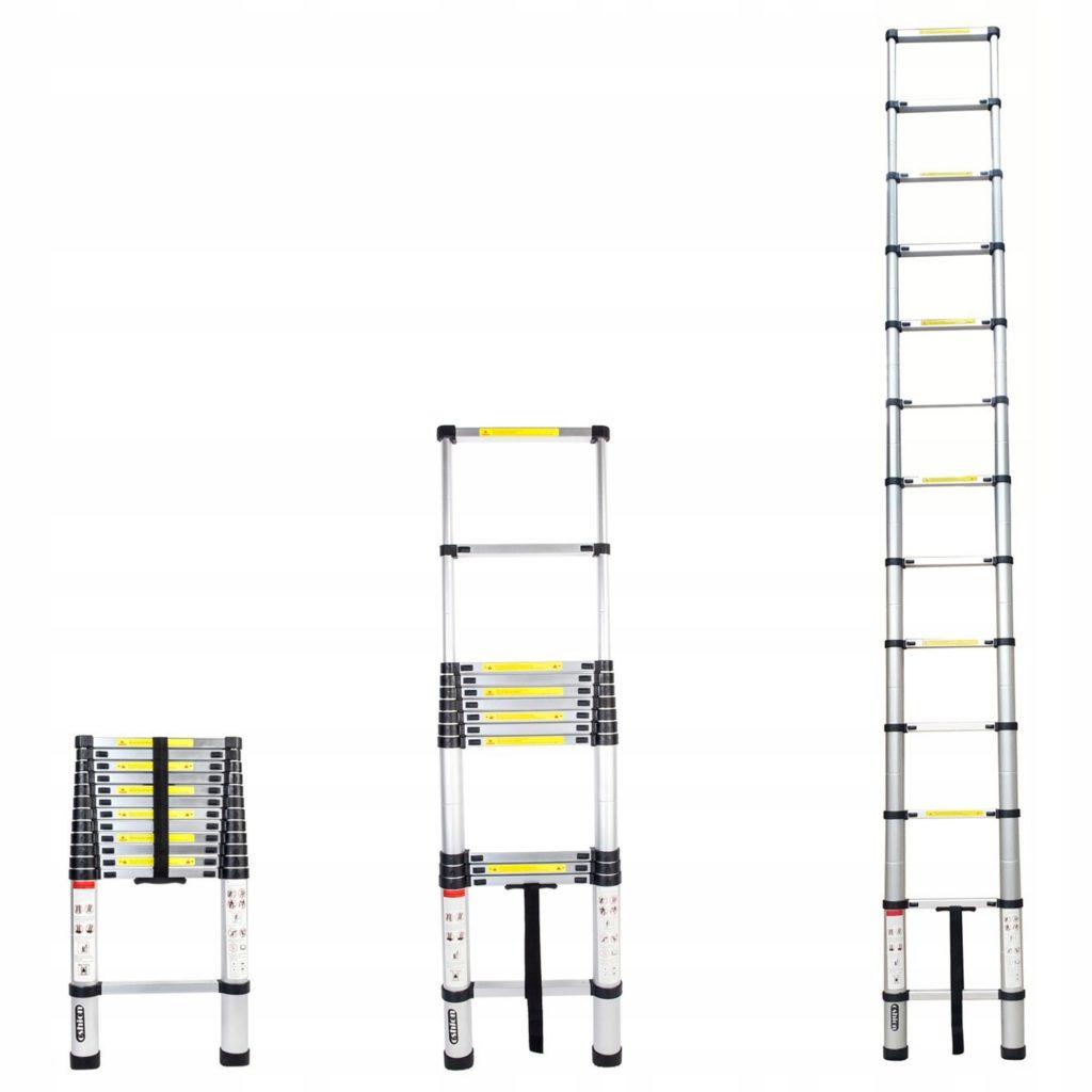 Телескопические лестницы: виды, материалы изготовления